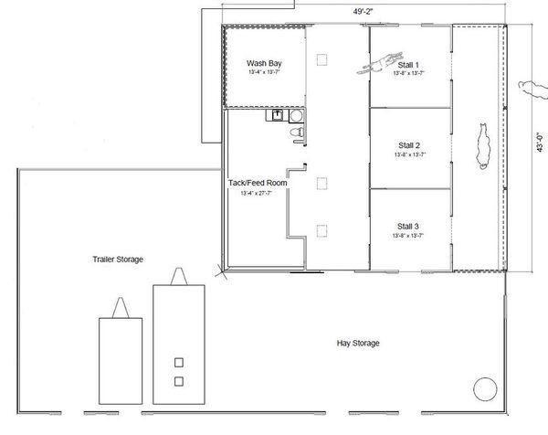 Country Floor Plan - Main Floor Plan Plan #451-30