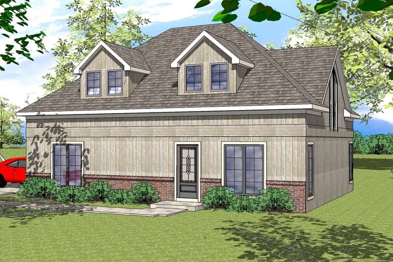 Southern Exterior - Front Elevation Plan #8-312