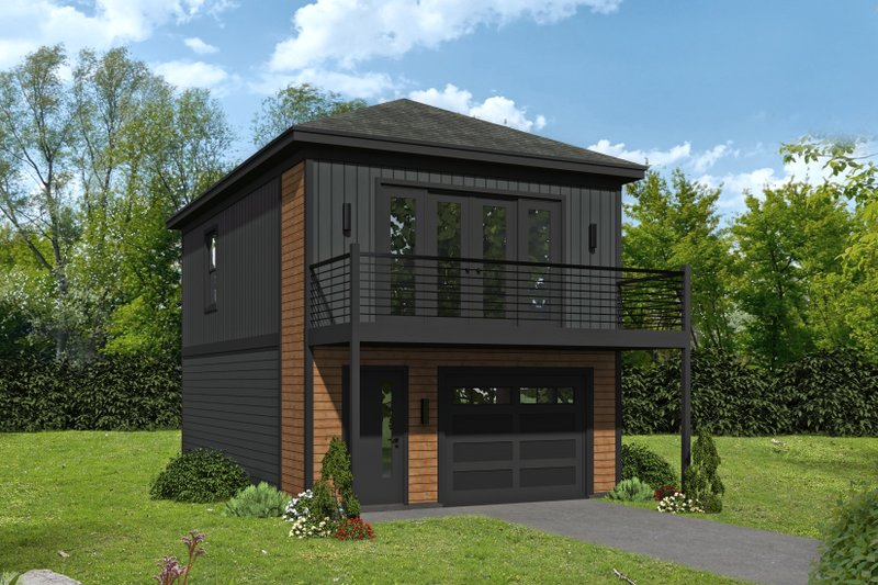 Contemporary Style House Plan - 1 Beds 1.5 Baths 632 Sq/Ft Plan #932-431