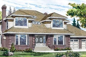 Traditional Exterior - Front Elevation Plan #47-197