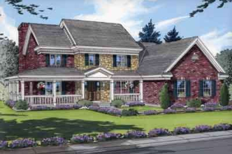 Traditional Exterior - Front Elevation Plan #46-134 - Houseplans.com