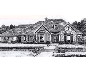 Traditional Exterior - Front Elevation Plan #310-837