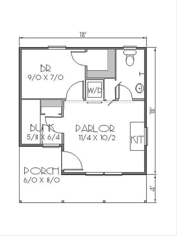 Cottage Floor Plan - Main Floor Plan Plan #423-45