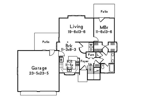 Dream House Plan - Modern Floor Plan - Main Floor Plan #57-673