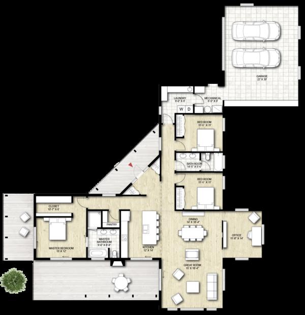 Home Plan - Contemporary Floor Plan - Other Floor Plan #924-1