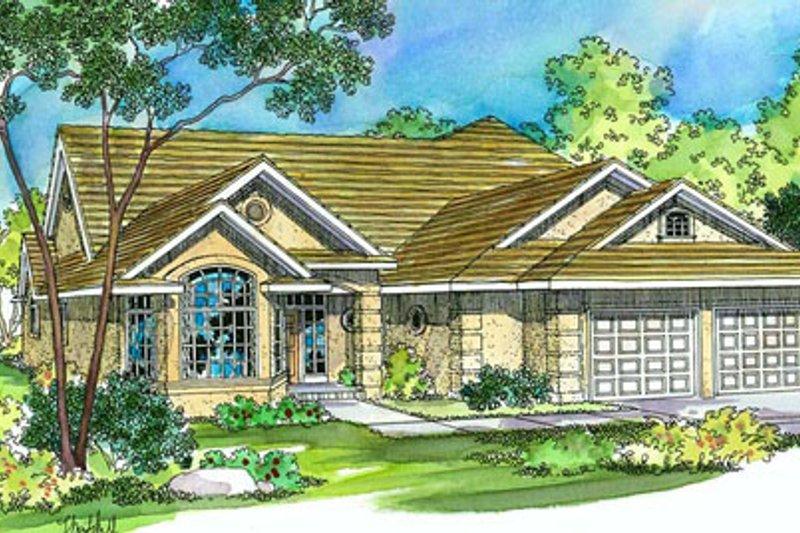 Architectural House Design - Mediterranean Exterior - Front Elevation Plan #124-356