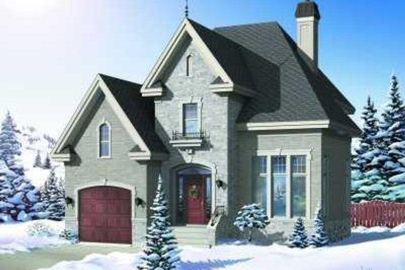 European Exterior - Front Elevation Plan #23-360 - Houseplans.com