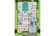 Beach Style House Plan - 4 Beds 4.5 Baths 4181 Sq/Ft Plan #548-20 Floor Plan - Main Floor Plan