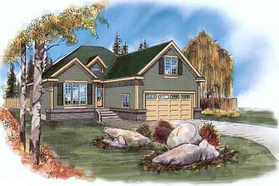 Traditional Exterior - Front Elevation Plan #409-114