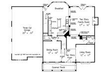 Traditional Floor Plan - Main Floor Plan Plan #927-32