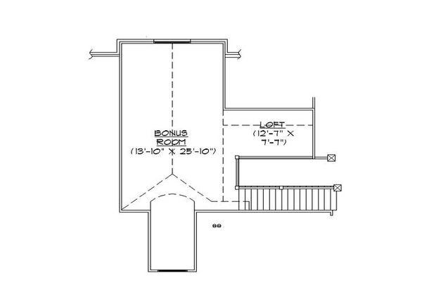 Craftsman Floor Plan - Upper Floor Plan Plan #5-469