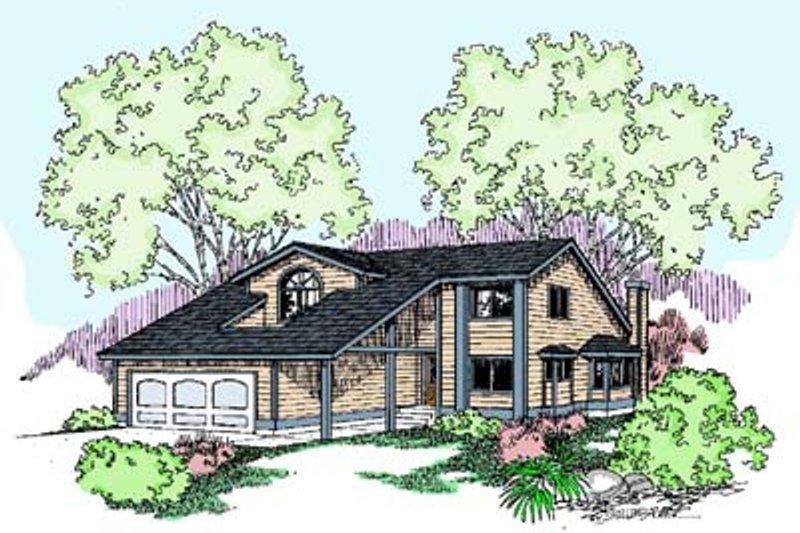 Exterior - Front Elevation Plan #60-511 - Houseplans.com