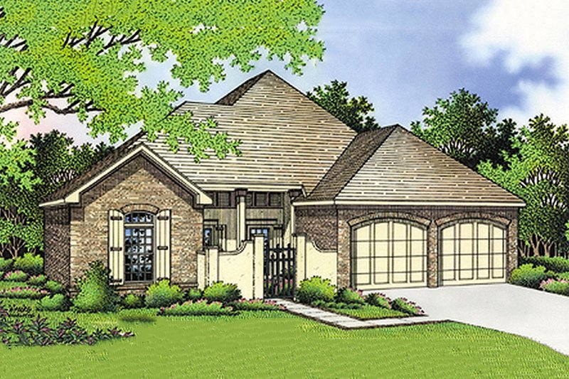 Southern Exterior - Front Elevation Plan #45-126