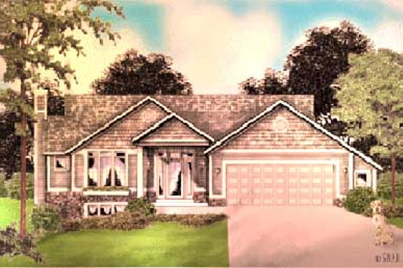 Traditional Style House Plan - 3 Beds 1 Baths 1300 Sq/Ft Plan #49-101