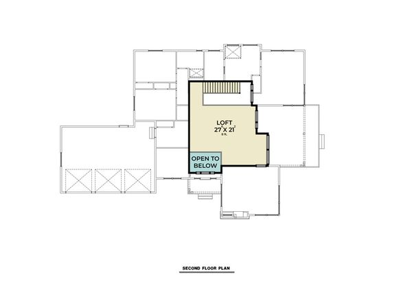 Contemporary Floor Plan - Upper Floor Plan #1070-115