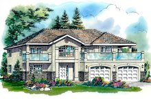 Mediterranean Exterior - Front Elevation Plan #18-253