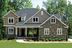 House Design - Craftsman Exterior - Front Elevation Plan #20-1056
