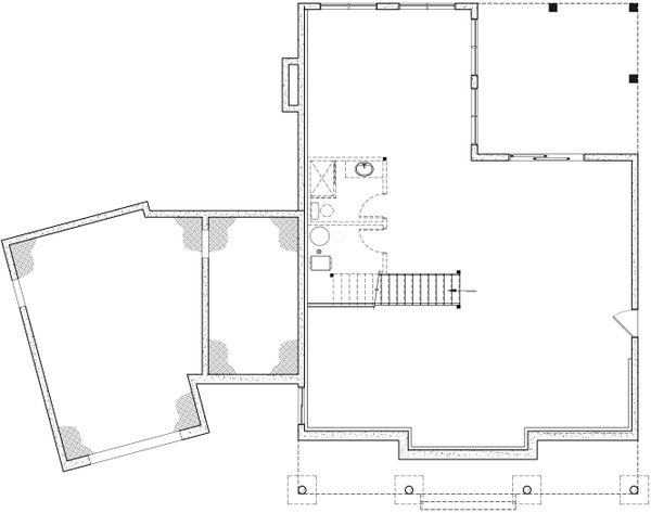 Home Plan - Farmhouse Floor Plan - Lower Floor Plan #23-2742