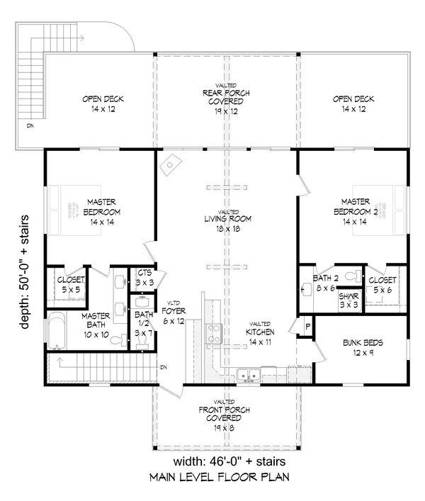 House Plan Design - Cabin Floor Plan - Main Floor Plan #932-264