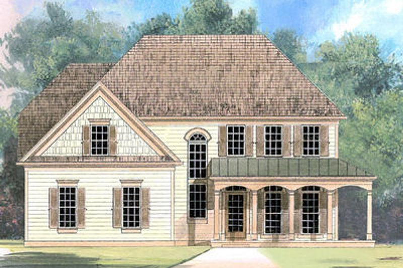 European Exterior - Front Elevation Plan #119-273 - Houseplans.com
