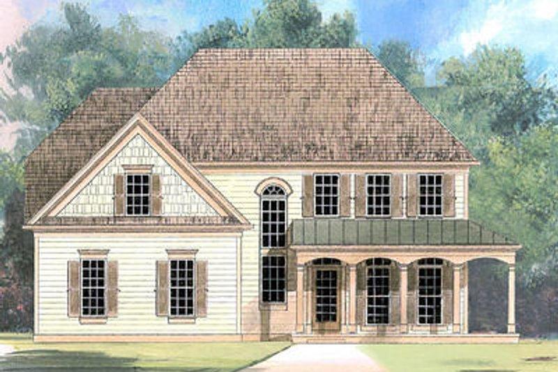 Home Plan - European Exterior - Front Elevation Plan #119-273