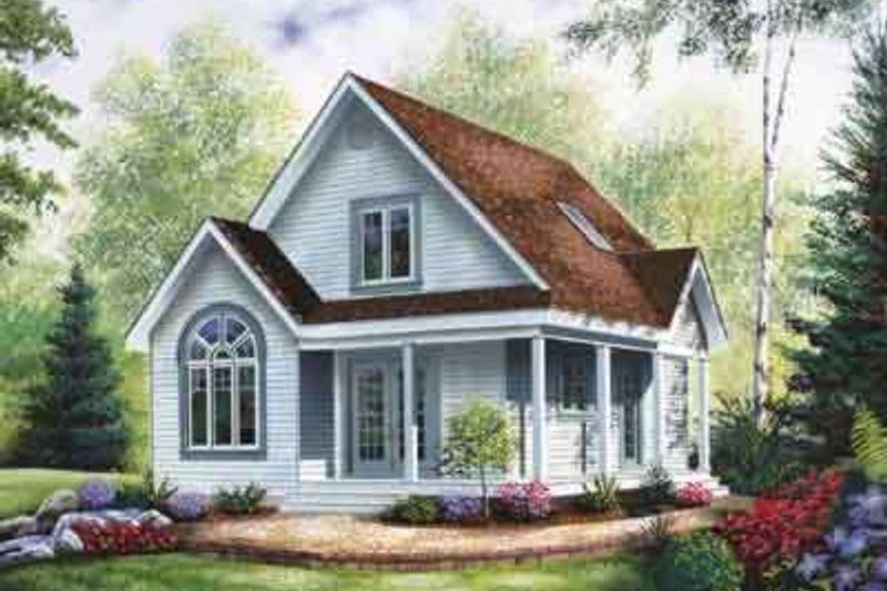Architectural House Design - Country Exterior - Front Elevation Plan #23-2095