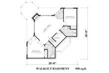 Traditional Floor Plan - Lower Floor Plan Plan #138-340