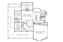 Farmhouse Floor Plan - Main Floor Plan Plan #54-378
