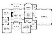 European Style House Plan - 3 Beds 2 Baths 1488 Sq/Ft Plan #929-55 Floor Plan - Main Floor