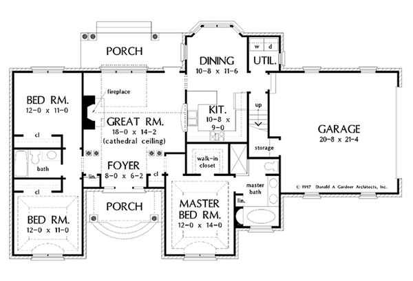 European Floor Plan - Main Floor Plan Plan #929-55