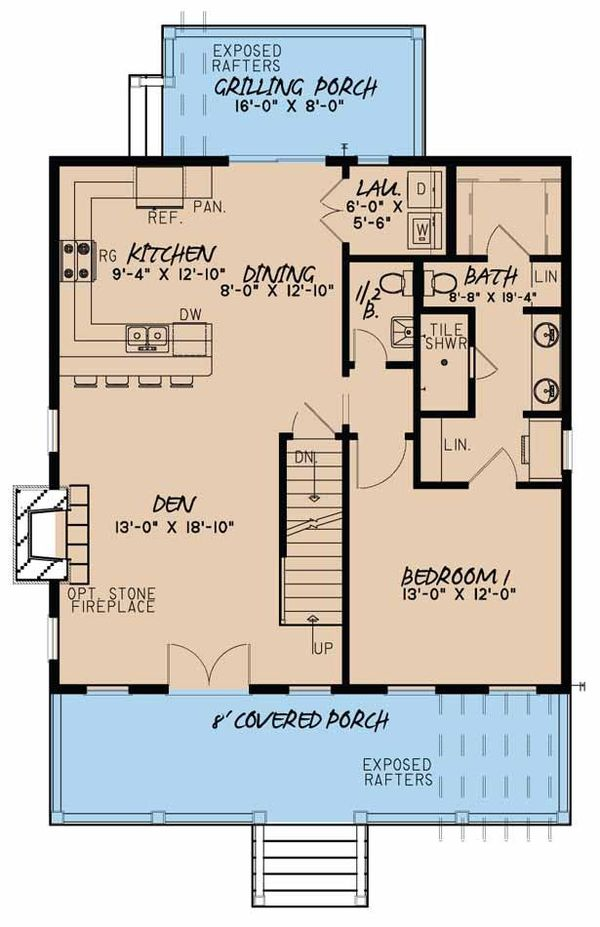 Country Floor Plan - Main Floor Plan Plan #923-46