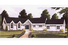 Dream House Plan - Ranch Exterior - Front Elevation Plan #3-132