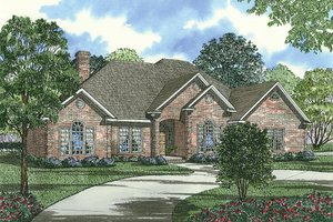 European Exterior - Front Elevation Plan #17-1038