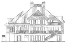 Southern Exterior - Rear Elevation Plan #930-18