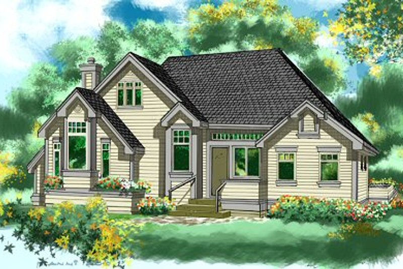Cottage Style House Plan - 2 Beds 2 Baths 1470 Sq/Ft Plan #118-103 Photo
