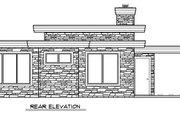 Modern Style House Plan - 2 Beds 2 Baths 1076 Sq/Ft Plan #509-8 Exterior - Rear Elevation