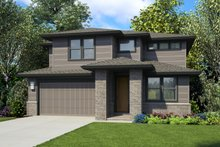 Contemporary Exterior - Front Elevation Plan #48-990