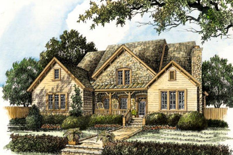 Dream House Plan - Farmhouse Exterior - Front Elevation Plan #429-35