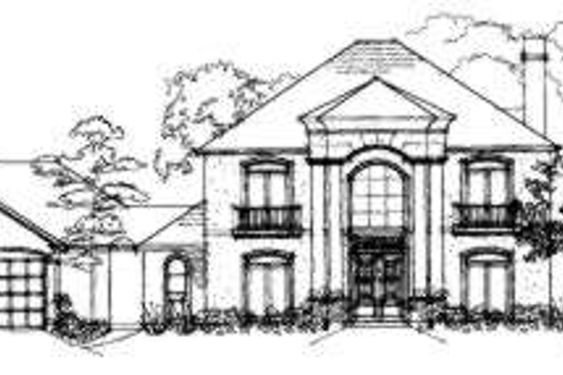 European Exterior - Front Elevation Plan #325-129