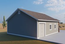 Dream House Plan - Traditional Exterior - Rear Elevation Plan #1060-87