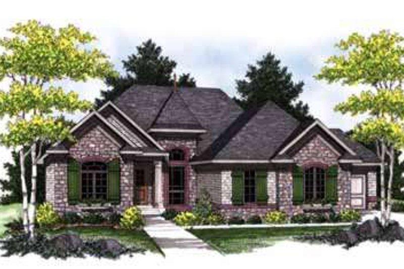 Dream House Plan - European Exterior - Front Elevation Plan #70-838