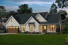 House Plan Design - Farmhouse Exterior - Front Elevation Plan #48-988