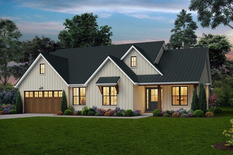 Farmhouse Exterior - Front Elevation Plan #48-988