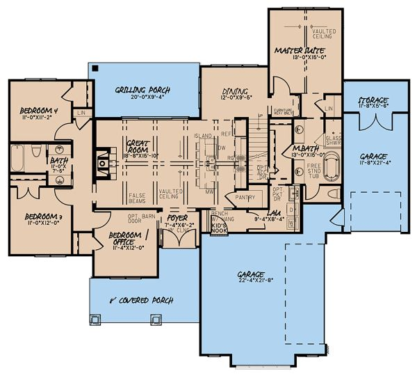 Country Floor Plan - Main Floor Plan Plan #923-131