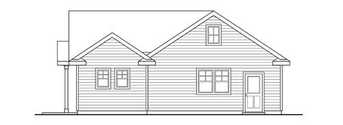 Traditional Exterior - Rear Elevation Plan #124-790 - Houseplans.com