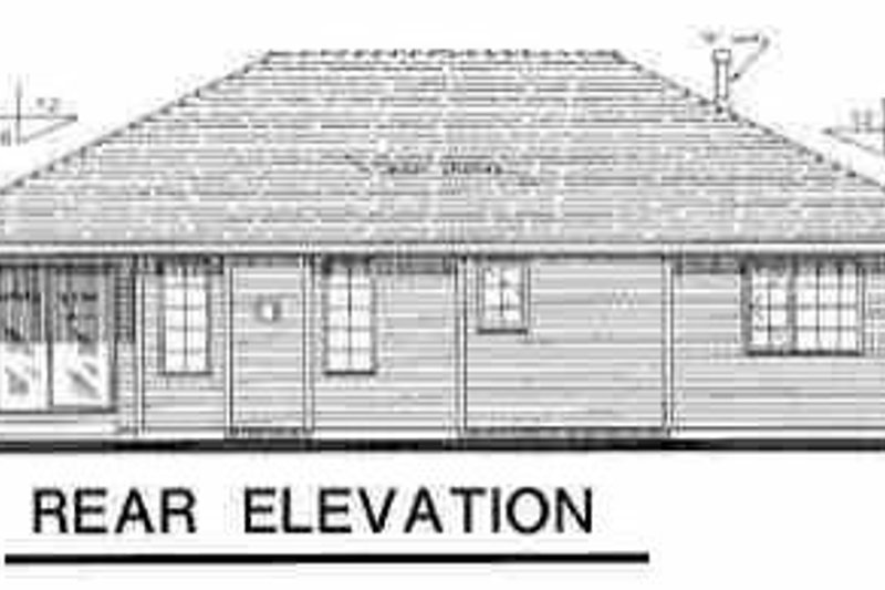 Traditional Exterior - Rear Elevation Plan #18-1002 - Houseplans.com
