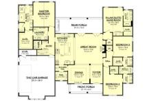 Farmhouse Floor Plan - Main Floor Plan Plan #1067-4