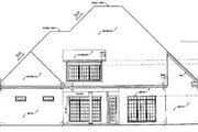 European Style House Plan - 3 Beds 3.5 Baths 3345 Sq/Ft Plan #36-235 Exterior - Rear Elevation