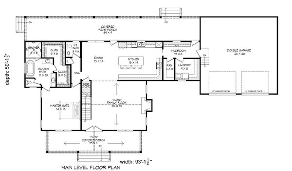 Country Floor Plan - Main Floor Plan #932-146