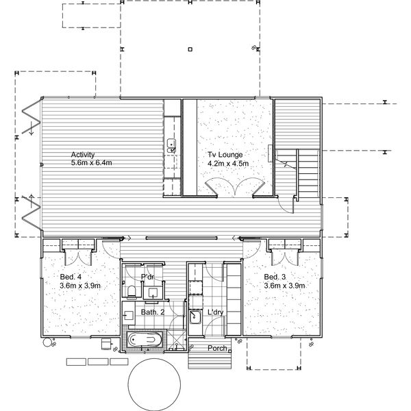 Modern Style House Plan - 4 Beds 3.5 Baths 3209 Sq/Ft Plan #496-14 Floor Plan - Upper Floor Plan